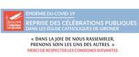 Reprise des célébrations publiques dans les églises catholiques de Gironde...